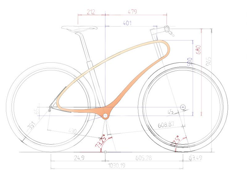 Unibody Wooden Bike Frame Uses Natural Wood Properties For Shock