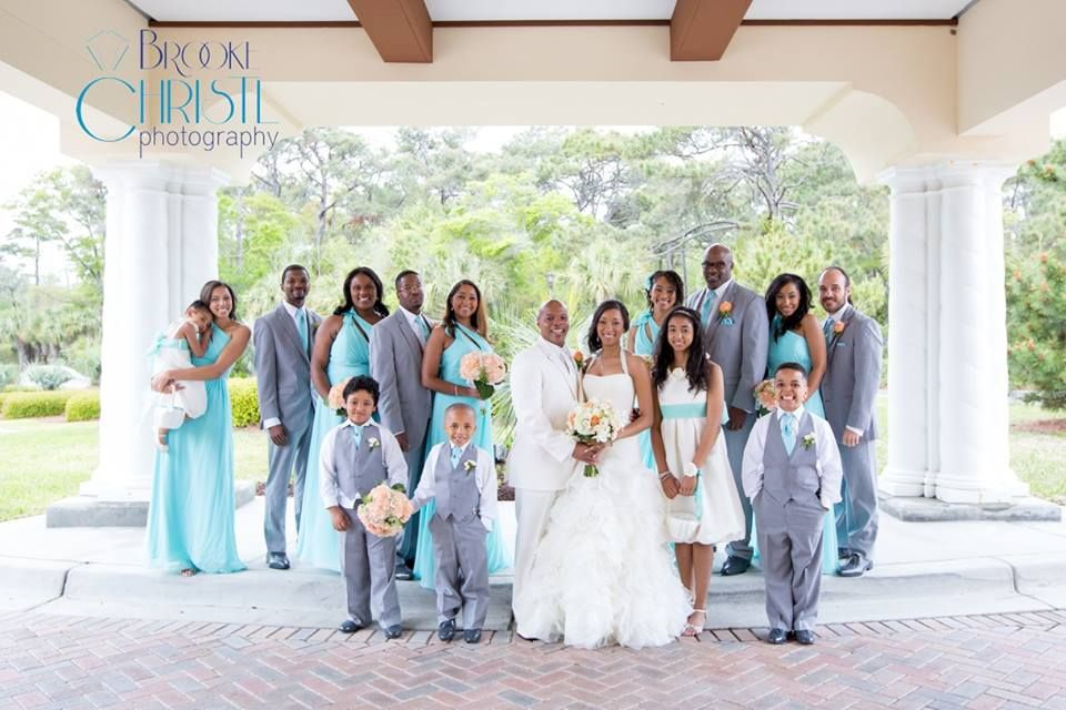Loving The Grey Suits With Tiffany Blue Ties Whole Bridal Party Is So Put