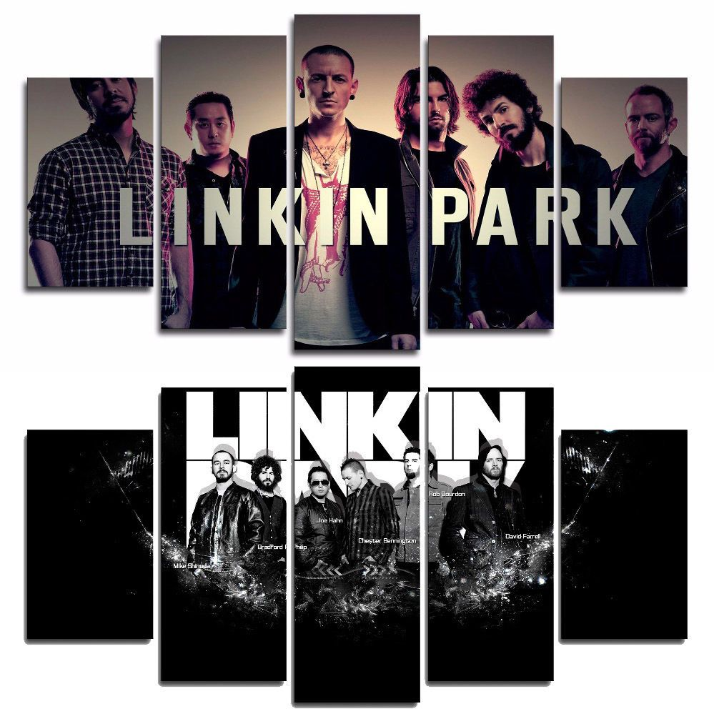 Linkin Park Chester Bennington Printed 5pcs Oil Painting Canvas Wall Art Decor Linkin Park Linkin Park Chester Canvas Art Wall Decor