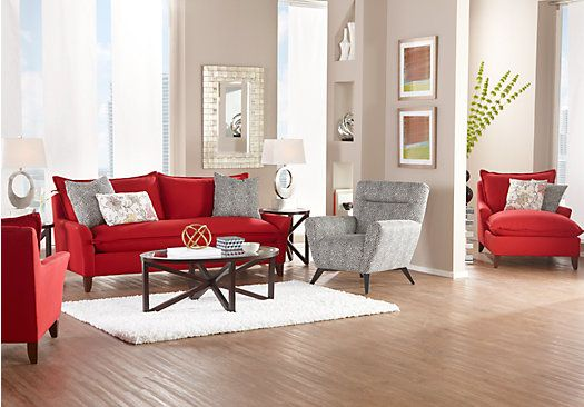 Best Sofia Vergara Collection Catalina Ruby 7 Pc Living Room 400 x 300