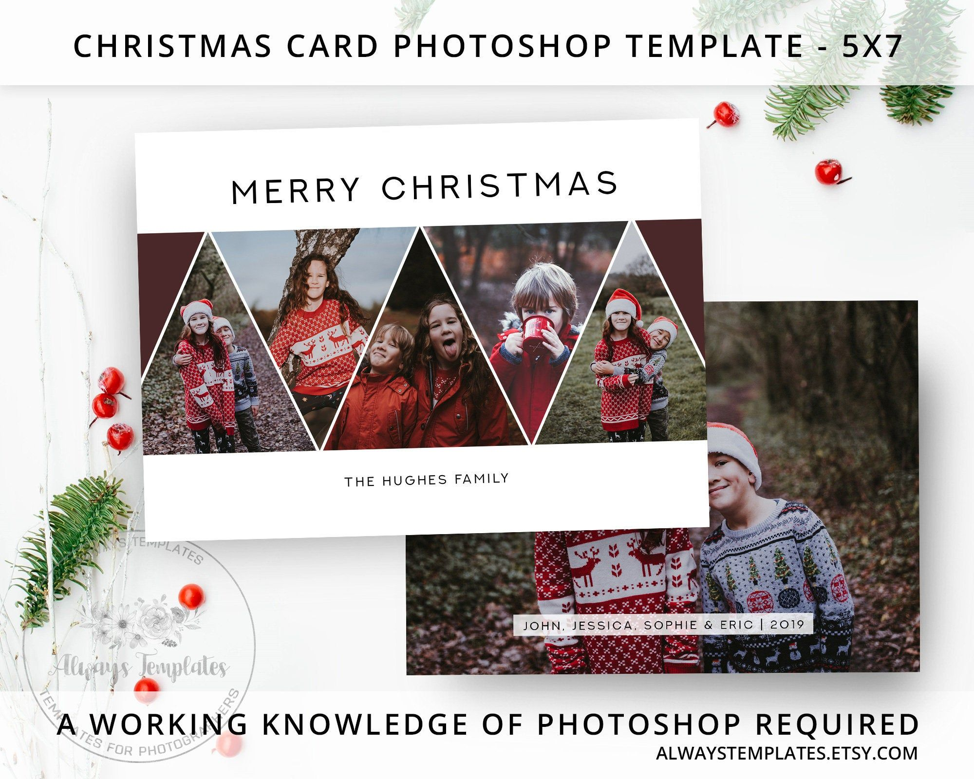 Photo Christmas Card Template Christmas Card Template Etsy Photoshop Christmas Card Template Holiday Card Template Christmas Photo Card Template