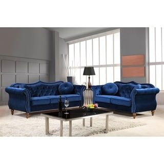 shop for manhattan mid century nailhead chesterfield sofa set and rh pinterest com