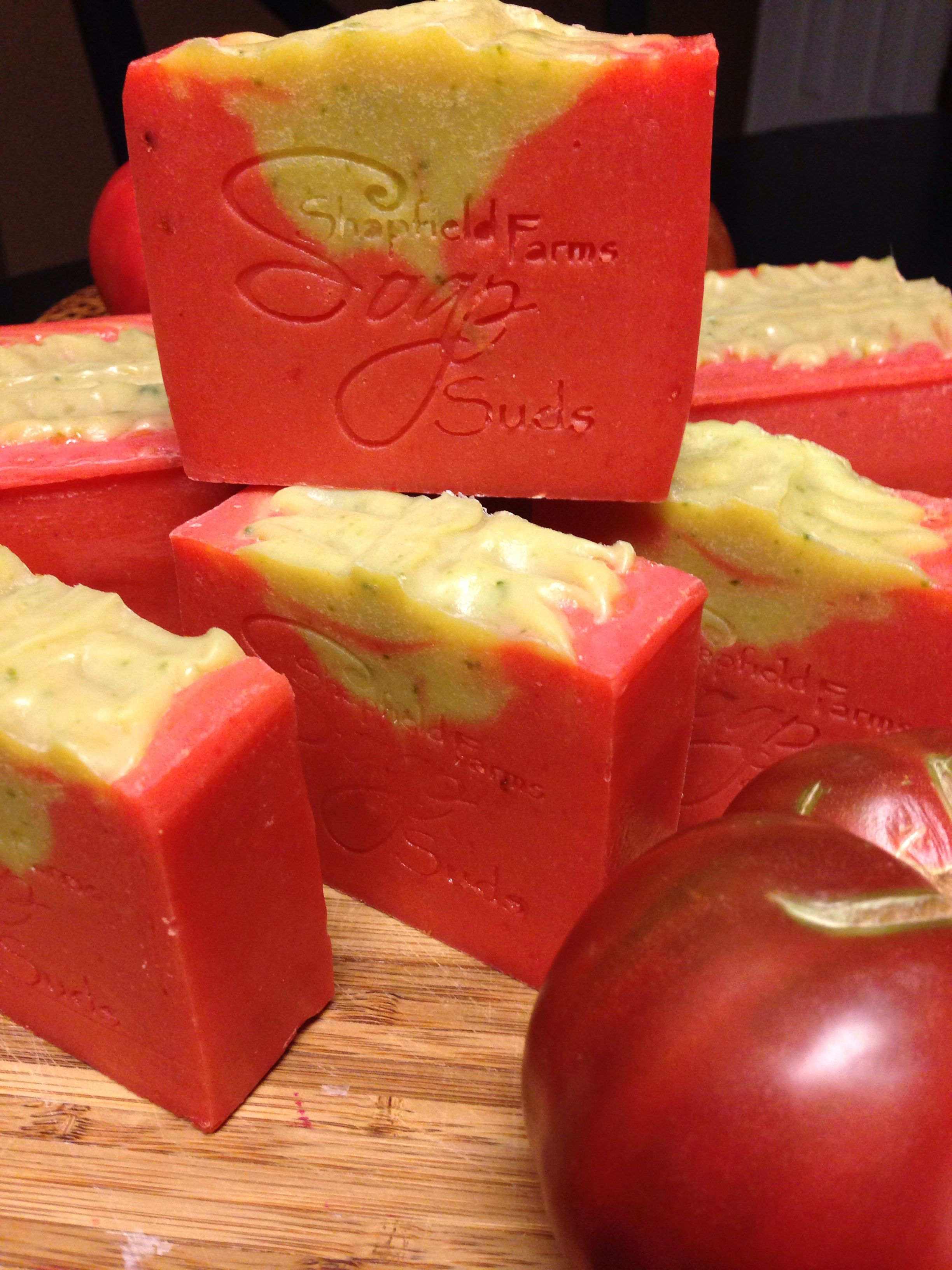 Heirloom Tomato Gazpacho Shapfield Farms Soap Suds Soap Recipes Soap Design Ideas Home Made Soap
