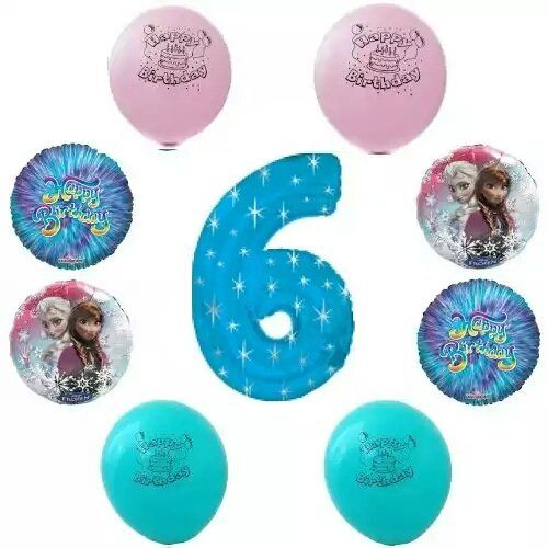 1777 Disney Frozen Happy 6th Birthday Party Balloon Decoration Kit Balloons