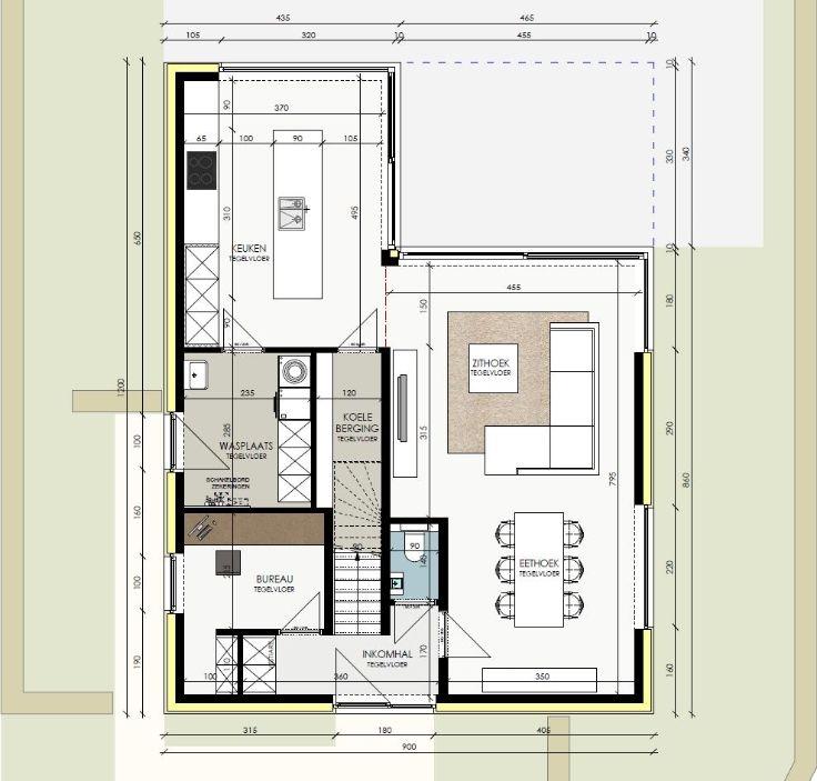 Te koop villa 3 slaapkamer s te koop lot 4 in verkaveling dumobil in de hellestraat te - Plan slaapkamer kleedkamer ...