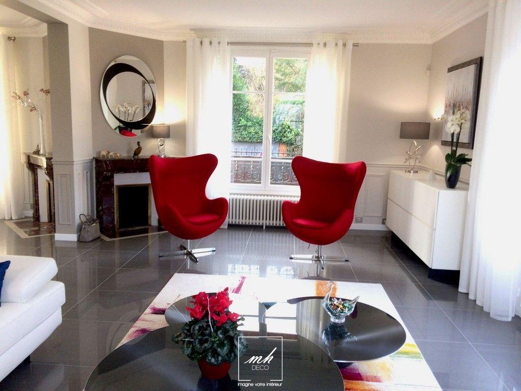 Un salon confortable et lumineux par mh d co d coration d 39 int rieur id es d co mobiliers for Voir deco salon