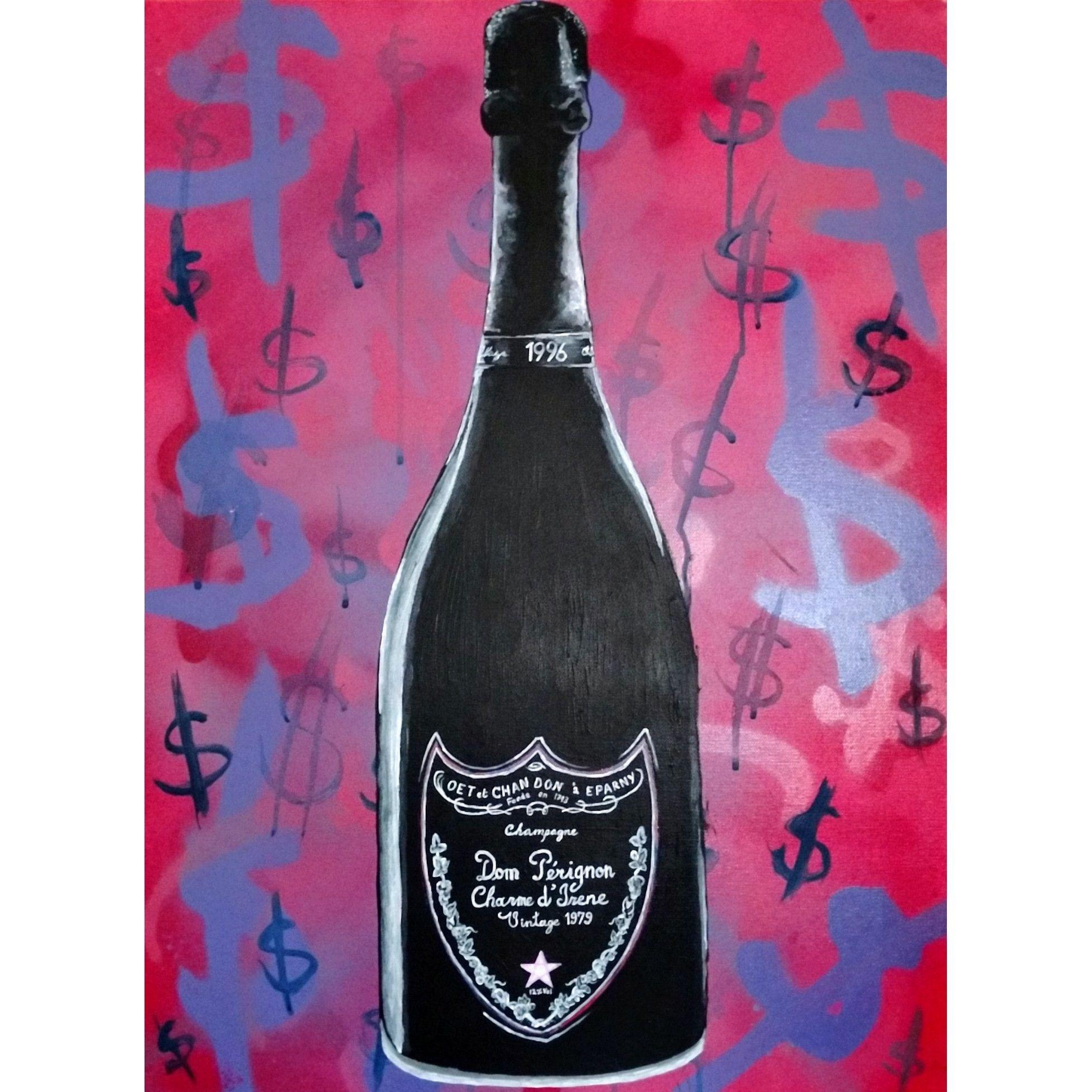 Dom Perignon Spray Paint Acrylic Paint