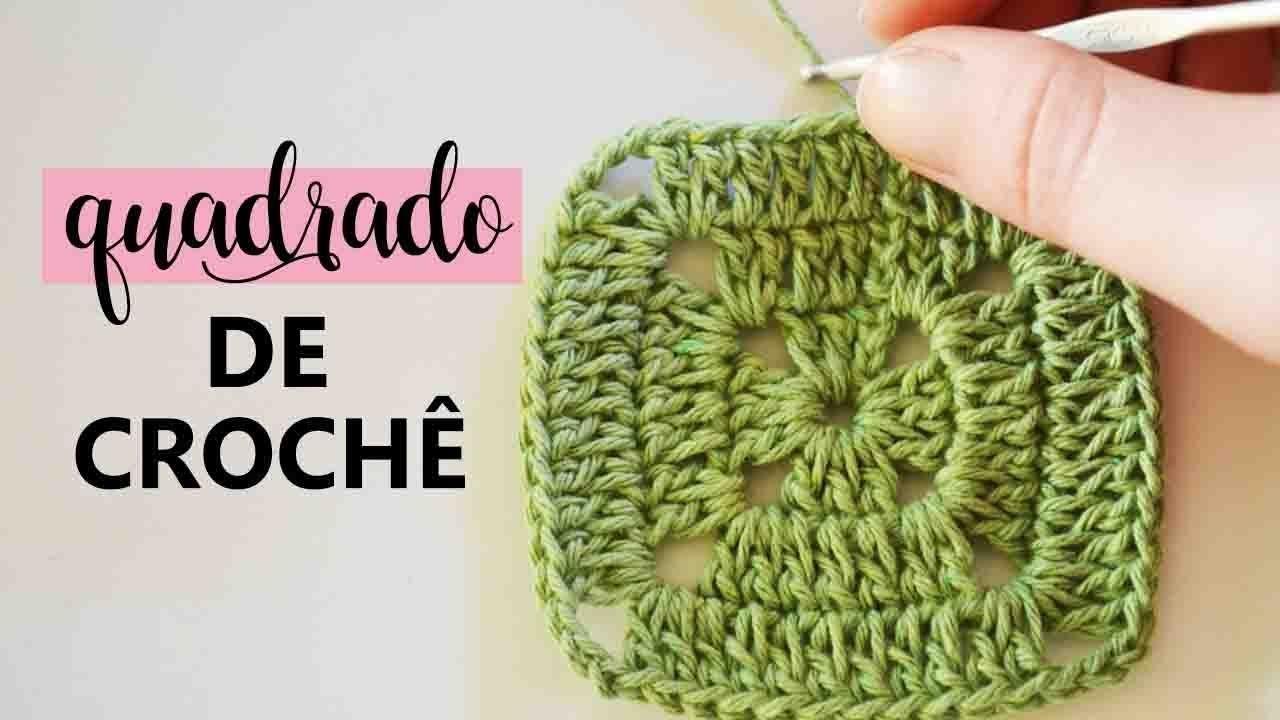 Aula De Crochê Para Iniciantes Como Fazer Um Quadrado Simples Croche Para Iniciantes Aula De Crochê Quadrados De Croche