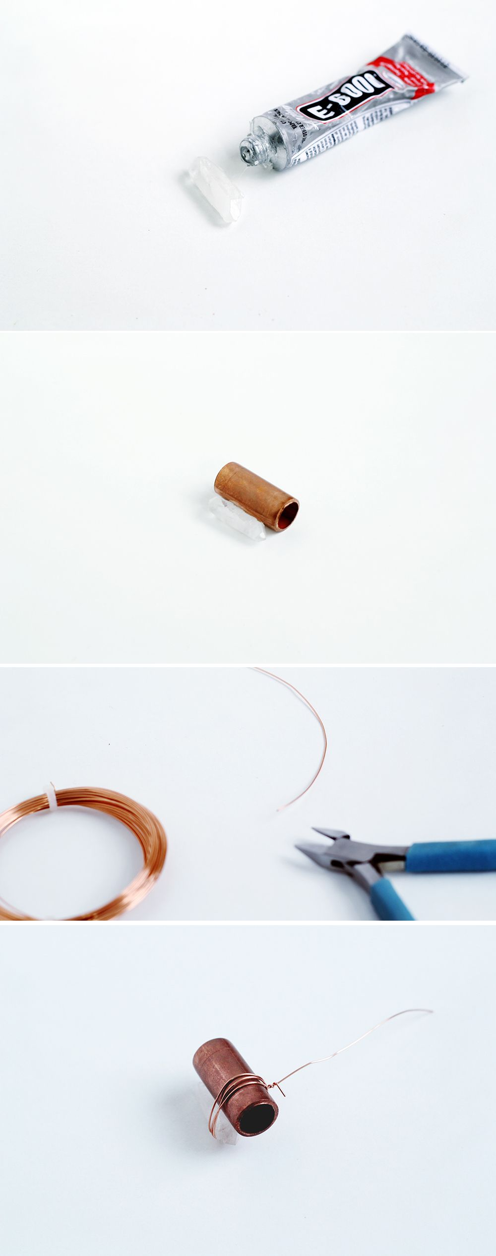 DIY Copper Pipe & Quartz Necklace | Fall For DIY