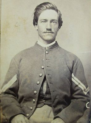 CDV PHOTO OF CIVIL WAR SOLDIER J. GIDLEY   NASHVILLE TENNESSEE