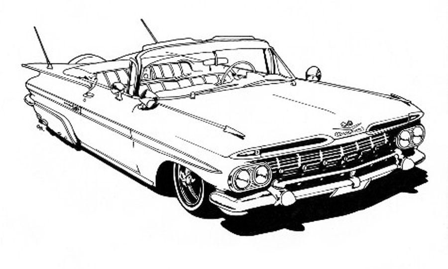 The Lowrider coloring book is ideal for your lil' jefe for