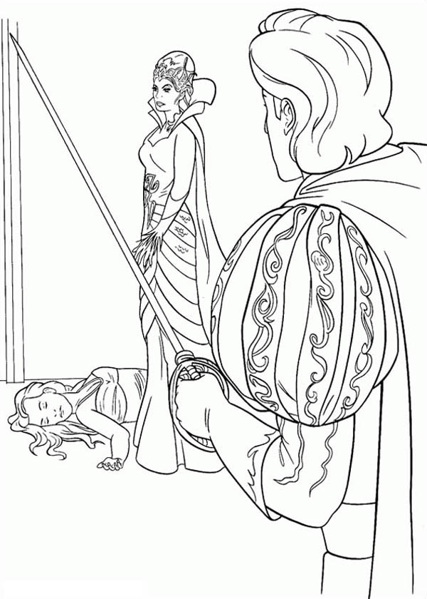 Giselle Pass Out In Front Queen Narissa In Enchanted Coloring Pages Bulk Color Coloring Pages Coloring Pictures Disney Anastasia