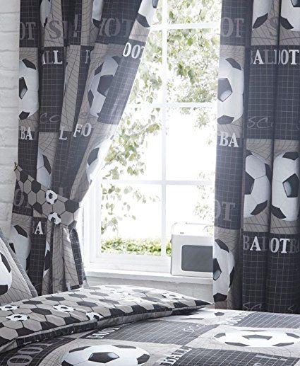 Coole Vorhänge Mit Fußball Motiv, Perfekt Für Ein Fussballzimmer. Die  Fußball Vorhänge