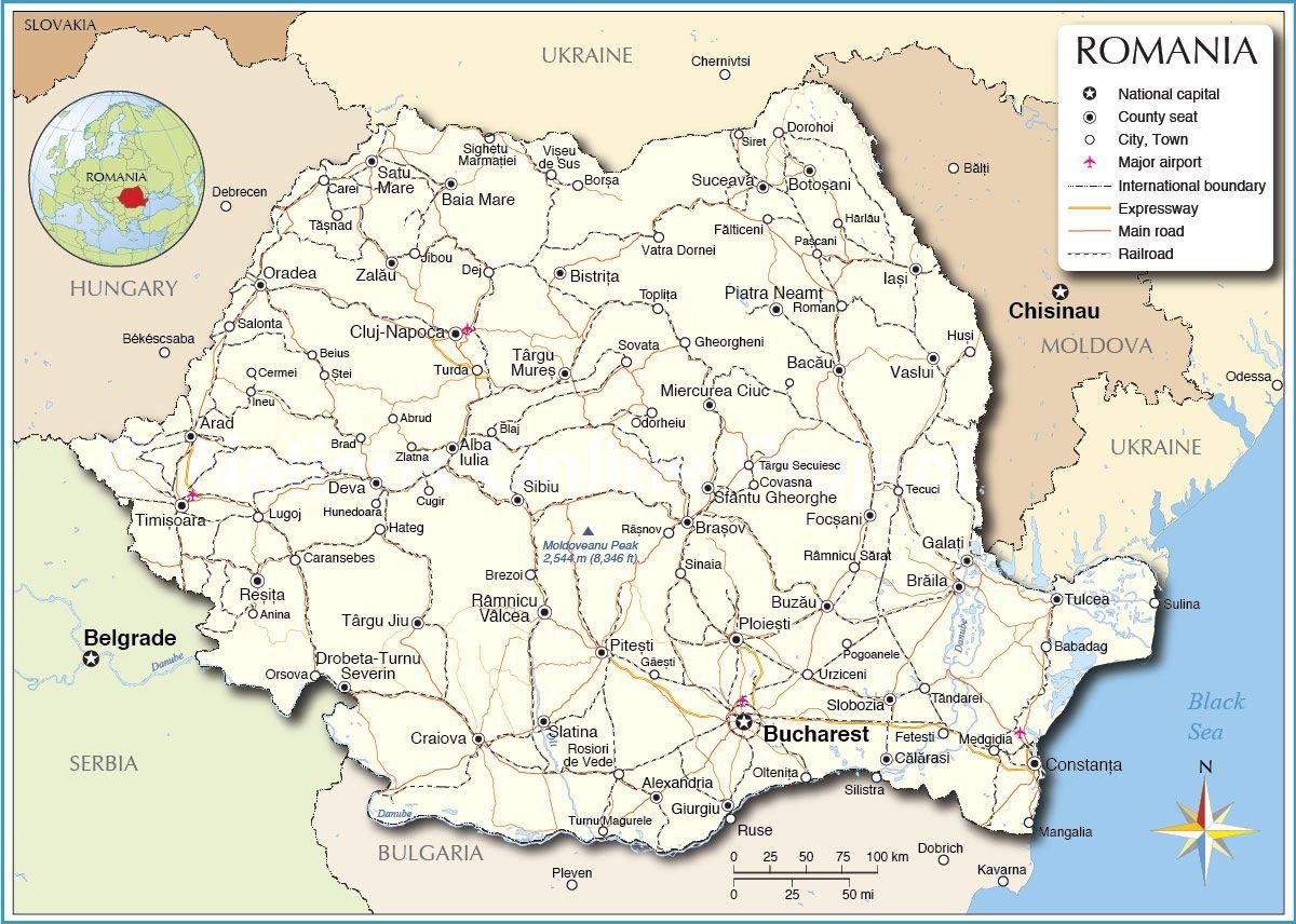 Political Map Of Romania Romania In 2019 Romania Map Eastern