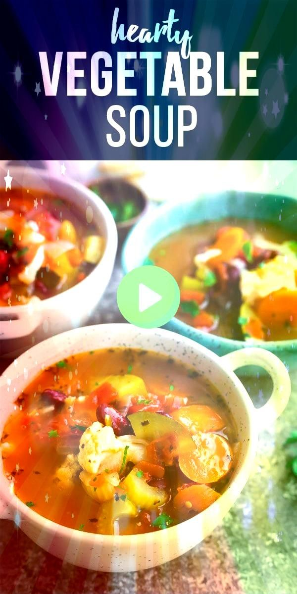 vegetable soup recipe is packed full of healthy veggies and flavor With carrots celery cauliflower zucchini tomatoes and kidney beans vegan vegetable soup healthy vegetab...