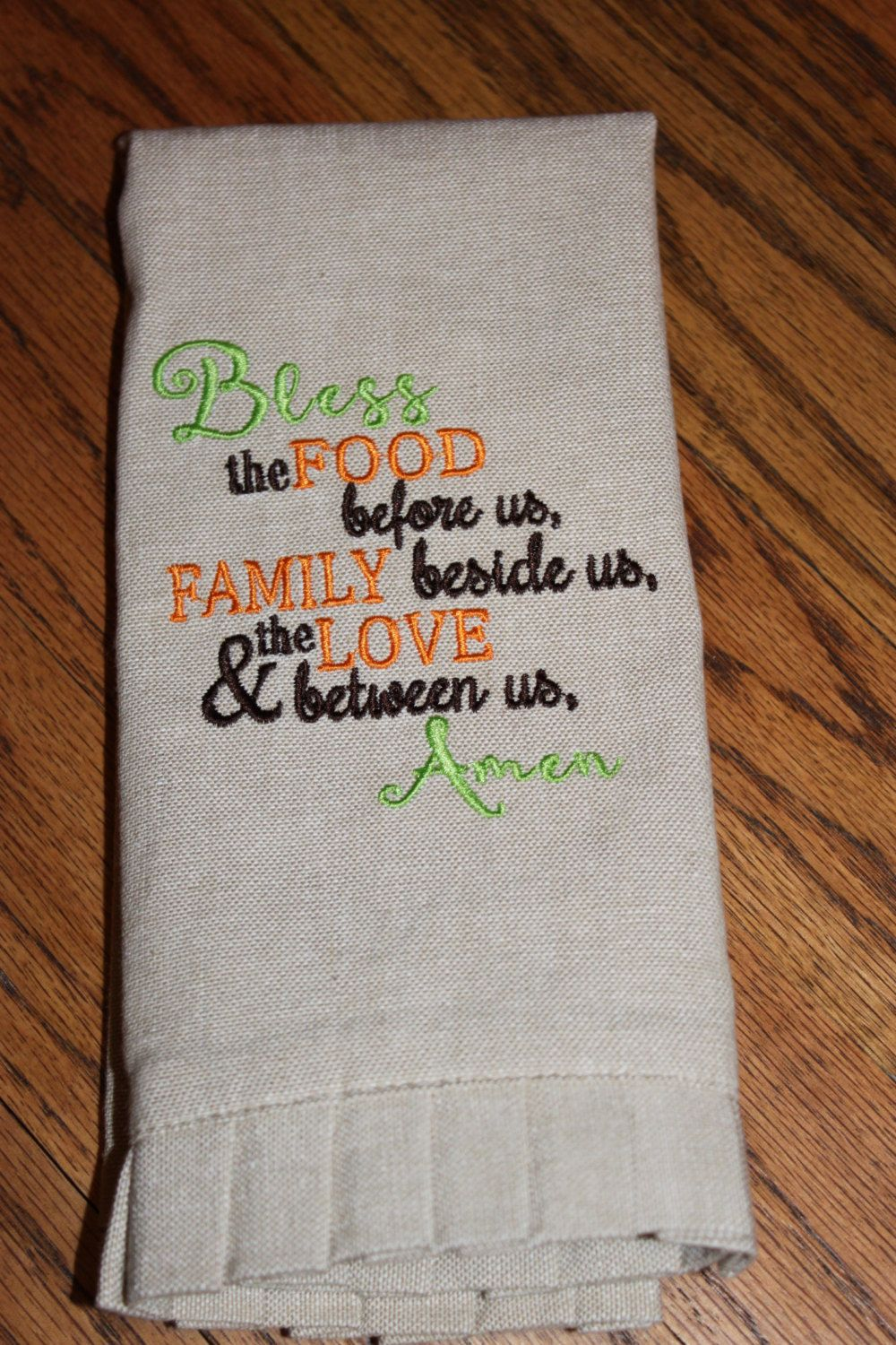Bless The Food Kitchen Towel, Linen Hand Towel, Kitchen Hand Towel, Kitchen  Tea