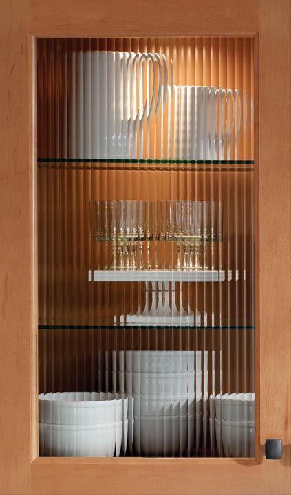reeded glass cabinet door for upper cabinets kitchen