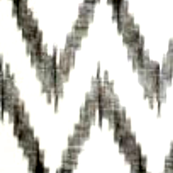 Charcoal and White Ikat Chevron - thedesignconfidential - Spoonflower