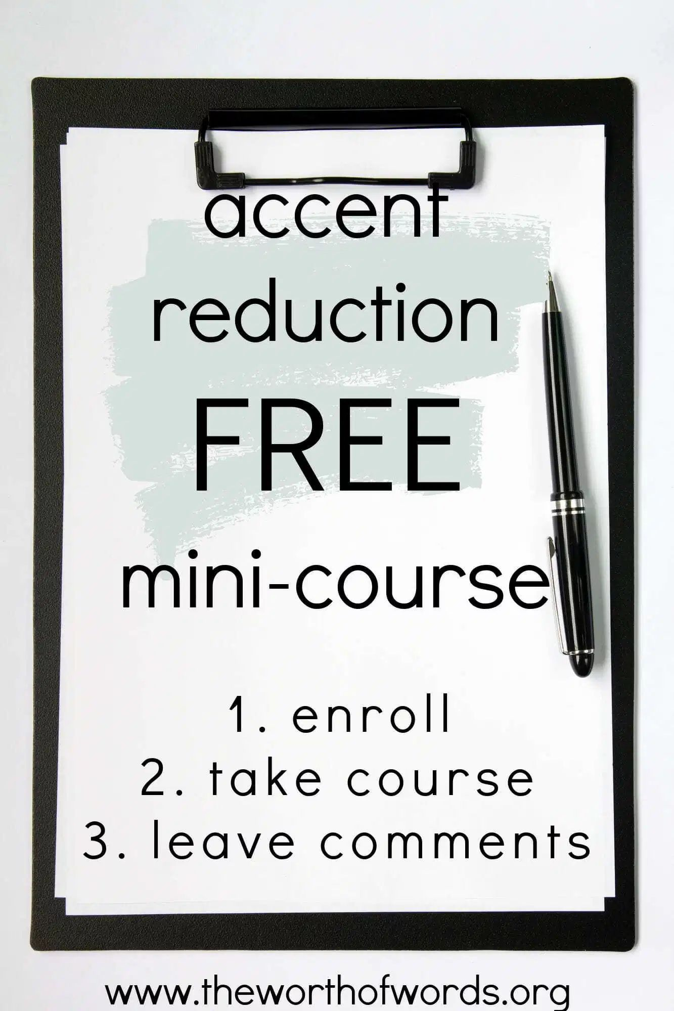 Accent reduction minicourse just launched the worth of