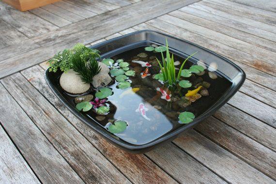 Miniature koi pond in resin by rezinology on etsy for Mini garden pool