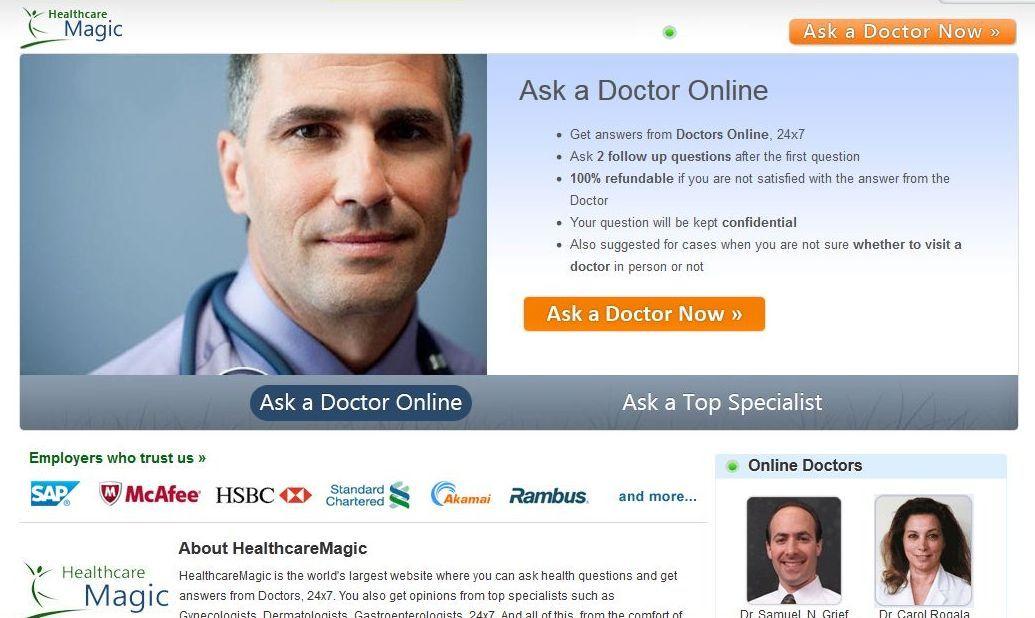 HealthcareMagic online doctors