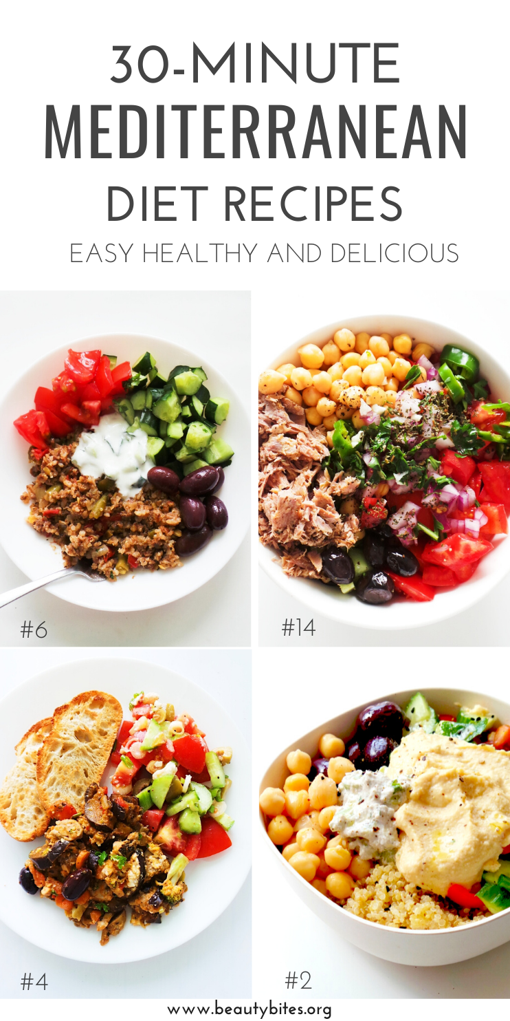 Photo of 30 mediterrane Diätrezepte, die 30 Minuten oder weniger dauern – Beauty Bites