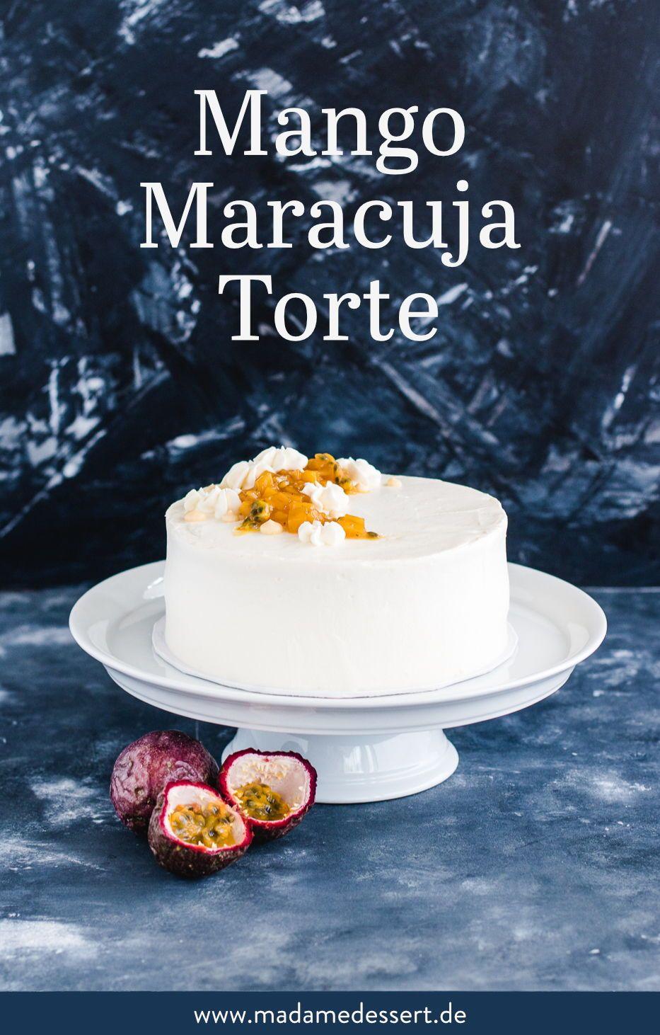 Photo of Fruchtige Mango Maracuja Torte mit Mango Kompott | Madame Dessert