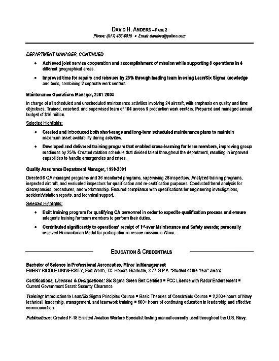 Military To Civilian Resume Template Military To Civilian Resume Air