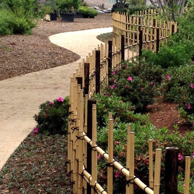 Bamboo Fencing Paisagismo Jardinagem Cerca De Jardim