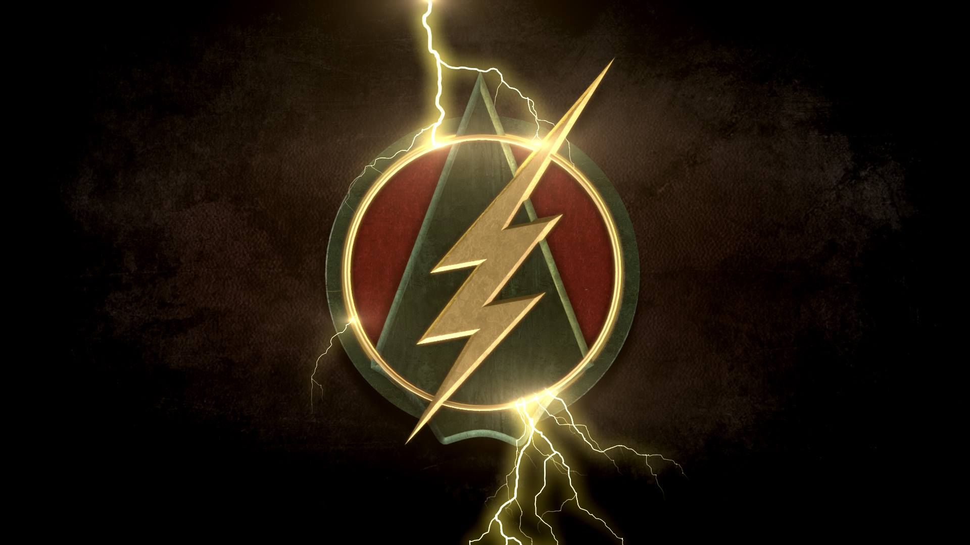 The Flash And Arrow Logo Flash Wallpaper Flash Arrow The Flash