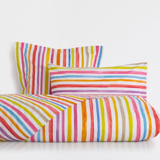 Image of the product Multicoloured Stripe Print Duvet Cover