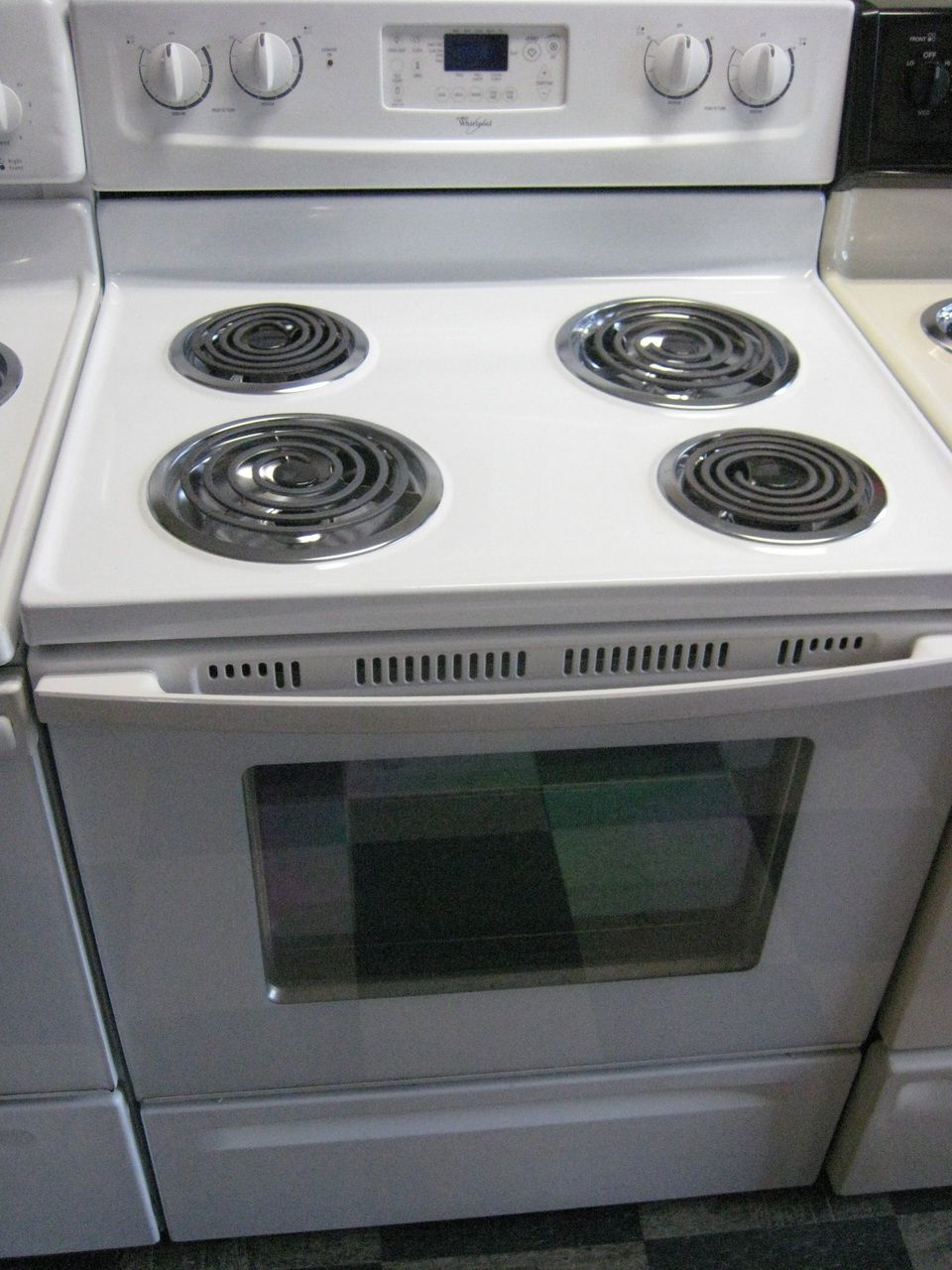Electric Coil Stove ~ Appliance city whirlpool inch free standing electric