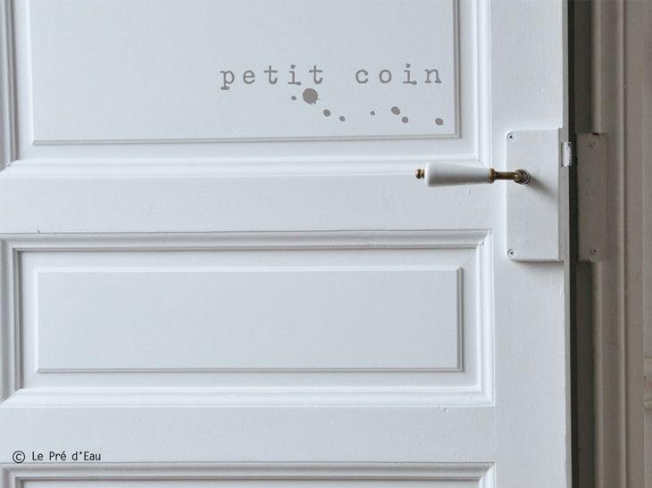 Sticker On Ecrit Sur Les Murs Leroy Merlin Deco Salle De Bain Deco Toilettes Idee Deco Wc