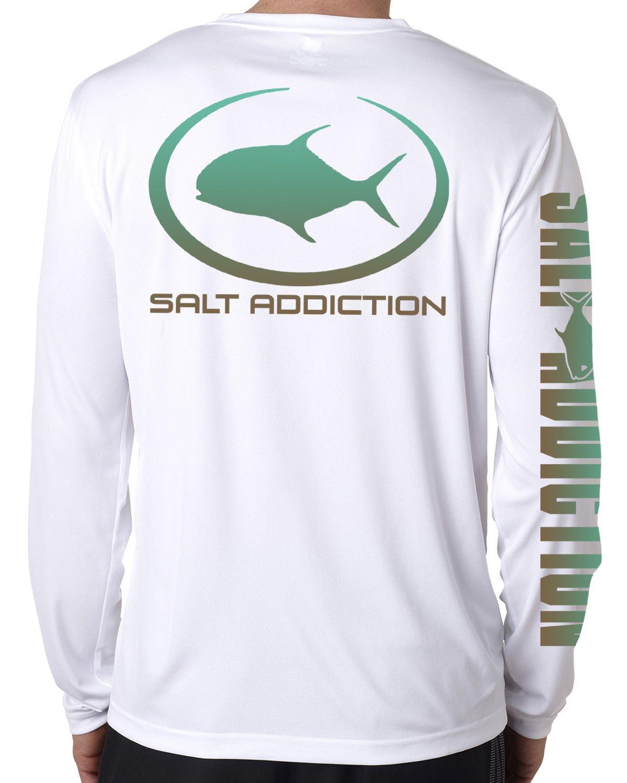 Salt Addiction Fishing t shirt Saltwater fishing apparel fish bones flats ocean