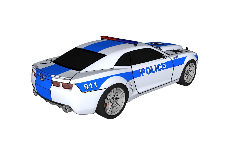 Sketch Of Police Car
