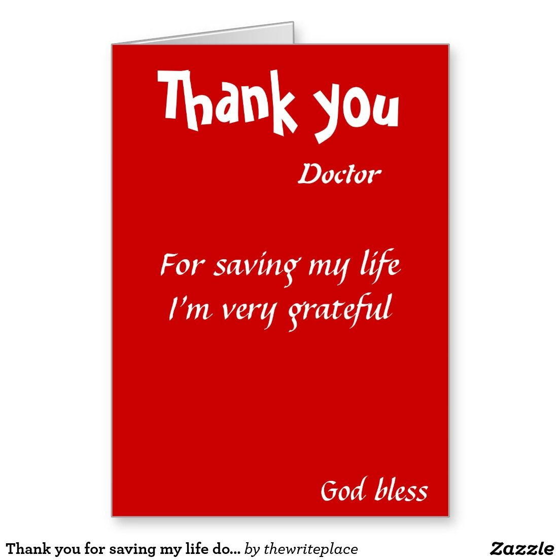 Thank You For Saving My Life Doctor Pinterest