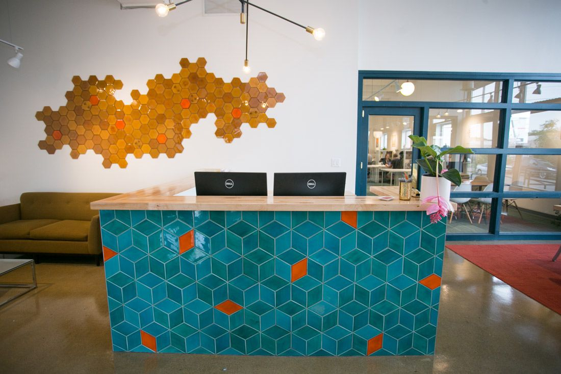 Chowgirls killer catering new hq with handmade tile cucina