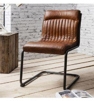 Capri Tan Leather Retro Chair Brown Leather Chairs Leather Dining Chairs Leather Chair