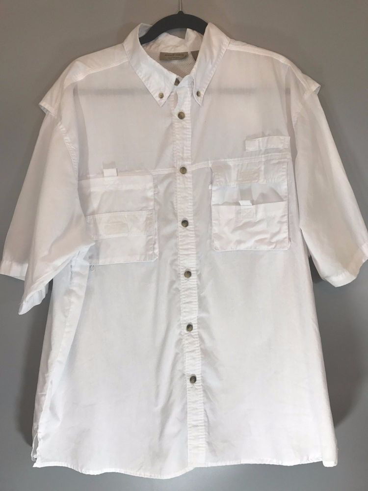 Rugged Earth Outers Men S Size L White Shirt On Front Short Sleeves Ruggedearthouters Onfront