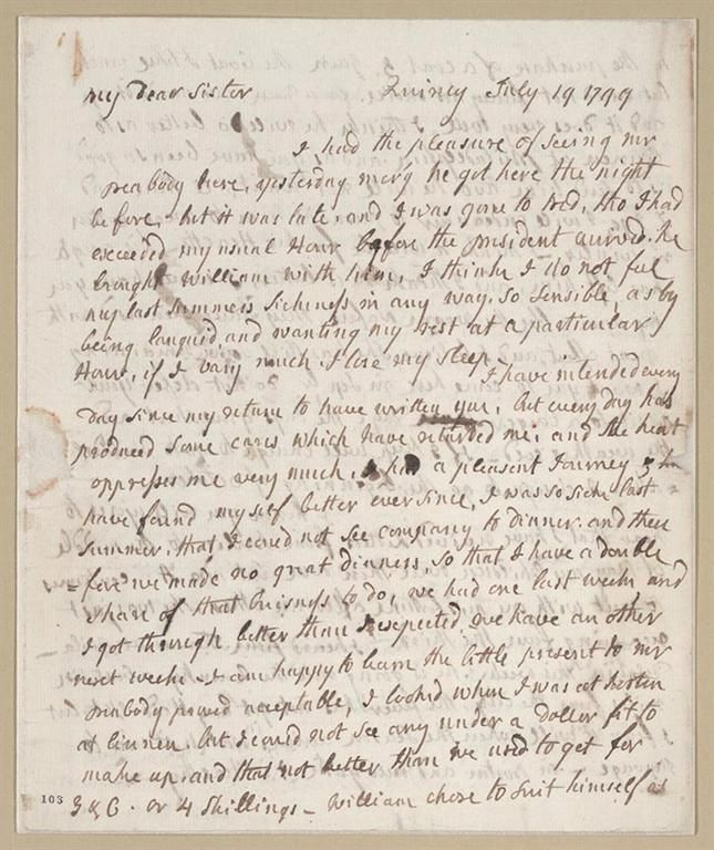 A Letter Written By Abigail Adams To Her Sister In  While She  A Letter Written By Abigail Adams To Her Sister In  While She Was The  Second First Lady