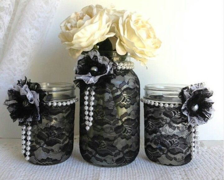 jar centerpieces - Halloween Wedding Table Decorations