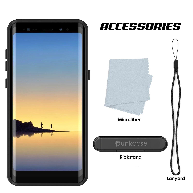 Galaxy Note 8 Waterproof Case PunkCase StudStar Pink Thin 6.6ft Underw