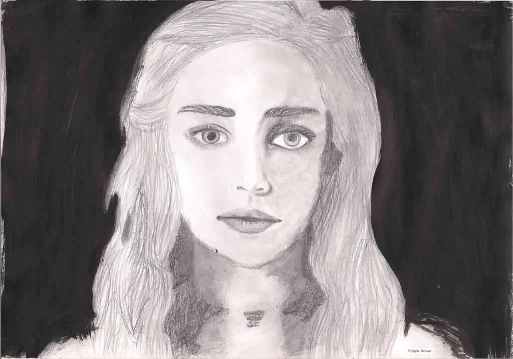 Daenerys Targaryen- Stormborn (Emilia Clarke) by VivjenSnow on deviantART