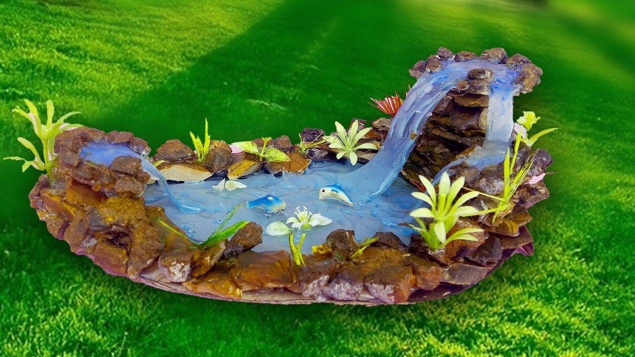 Gnome In Garden: Hot Glue Waterfall Tutorial- DIY Craft Ideas