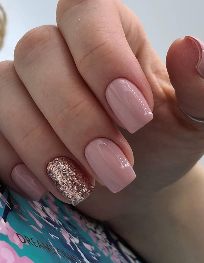 120 Pretty Natural Short Square Nails Design For Summer Nails Latest Fashion Trends For Woman In 2020 Short Square Nails Square Nails Square Nail Designs