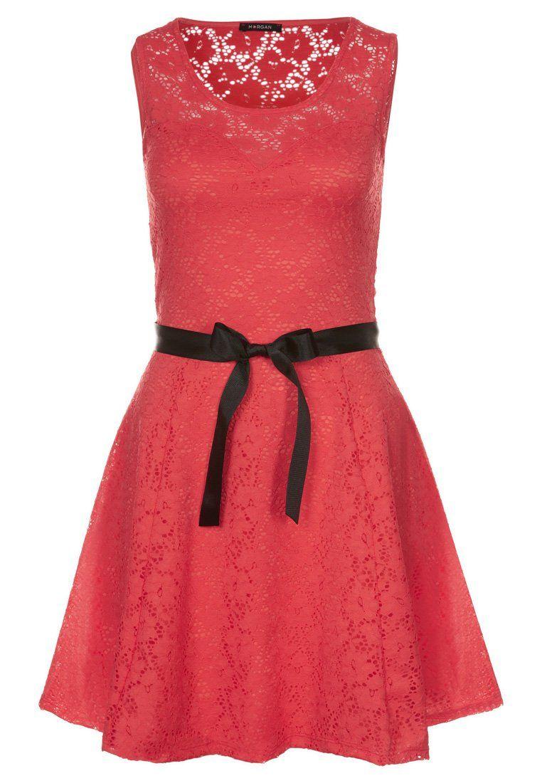 rotes kleid knielang zalando