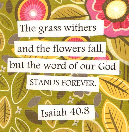 Forever Isaiah 40:8