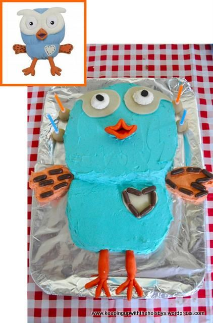 giggle and hoot finished cake  Has complete, dare I say, foolproof instructions on the site.