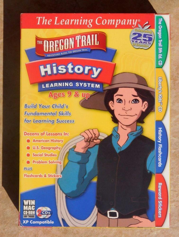 TLC THE OREGON TRAIL HISTORY NEW MIB WINDOW/MAC 2 CD's Age 9 and Up