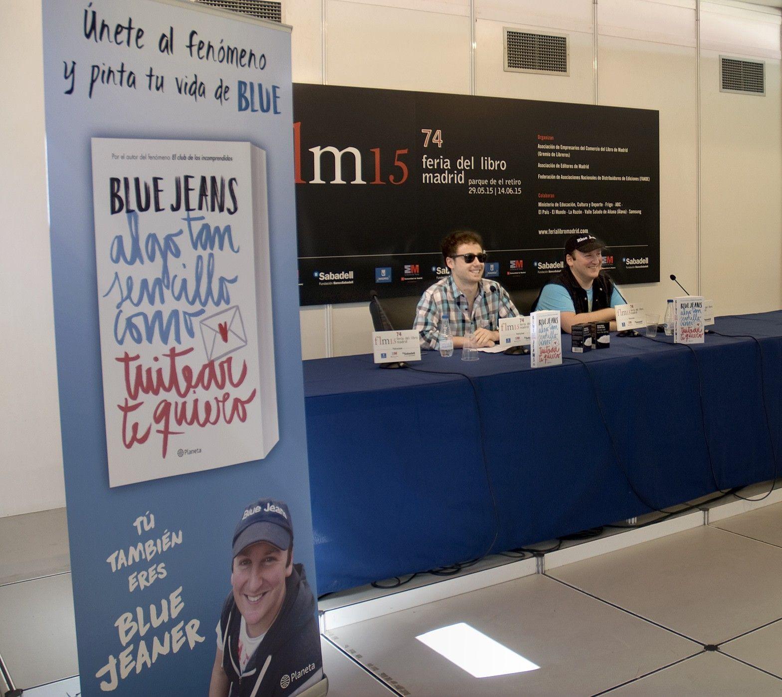 30/05/15 Presentación de la novela Algo tan sencillo como tuitear te quiero, con la presencia de Blue Jeans, autor de la obra. Foto © Jorge Aparicio/ FLM15